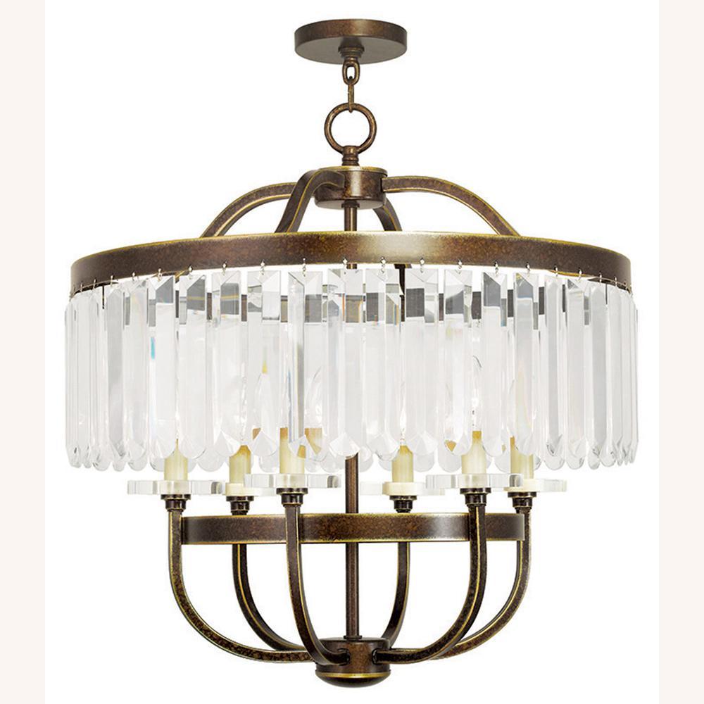 Ashton 6-Light Palacial Bronze Chandelier