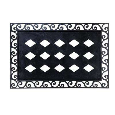 Black 36 in. x 24 in. Traditional Rubber Door Mat Base