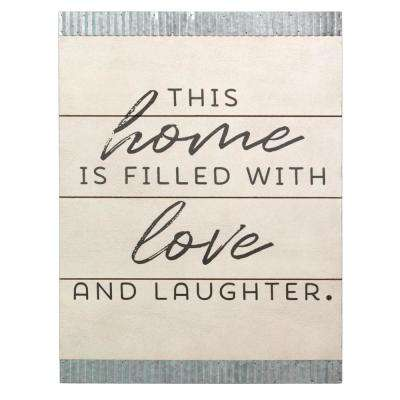 This home is filled with love Wood and Galvanized Wall Art