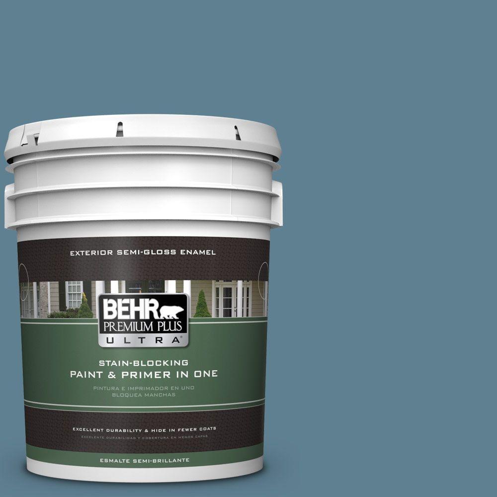 BEHR Premium Plus Ultra 5-gal. #S470-5 Blueprint Semi-Gloss Enamel Exterior Paint