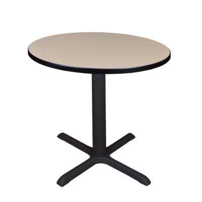 Cain Beige Round 30 in. Breakroom Table