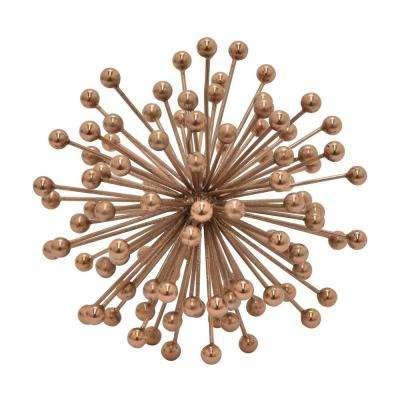 6 in. Metal Starburst Beads Orb - Copper Finished in Copper