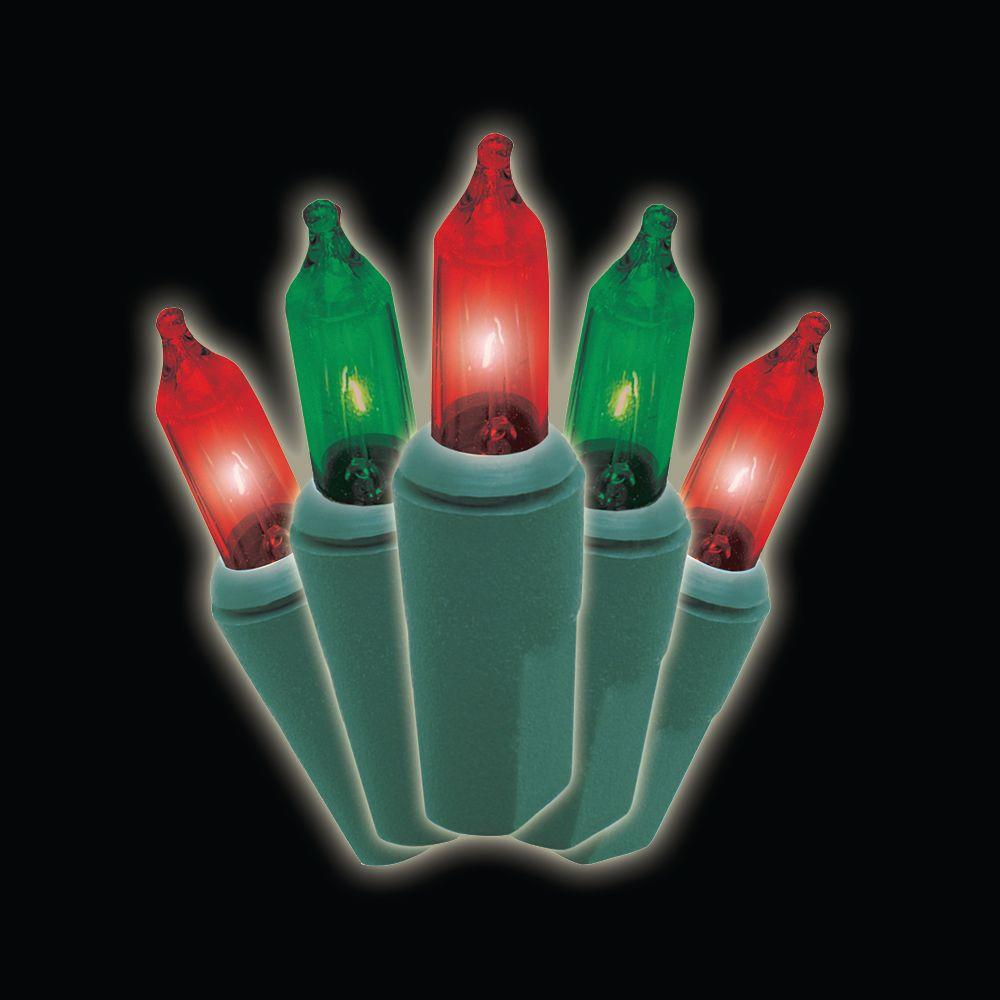 150-Light Red/Green 8 Function Chasing Set with Green Wire