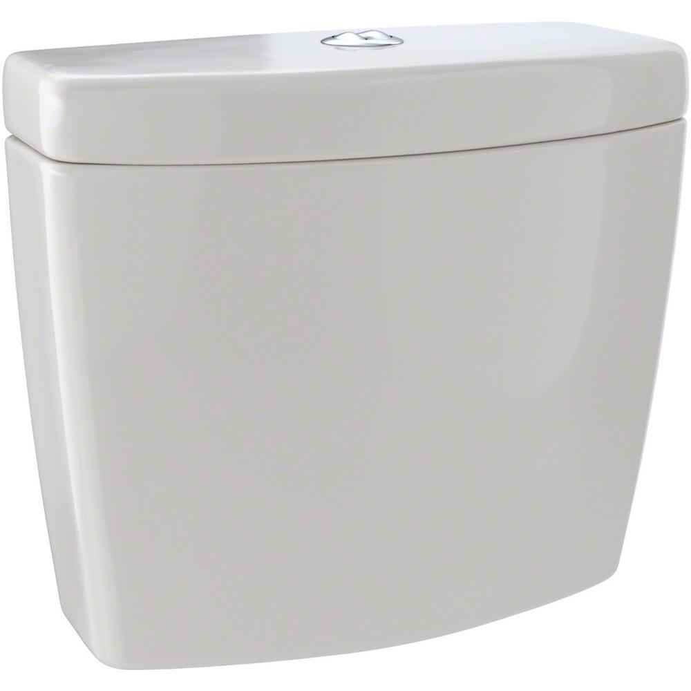 Aquia 0.9/1.6 GPF Dual Flush Toilet Tank Only in Sedona Beige