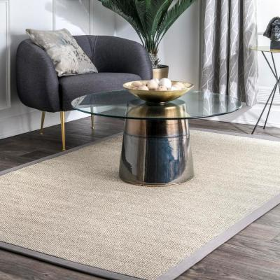 Chloe Bordered Gray 6 ft. x 9 ft.  Area Rug