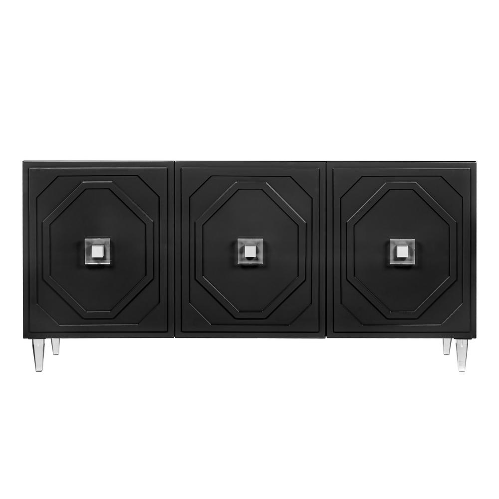 TOV Furniture Andros Black Lacquer Buffet
