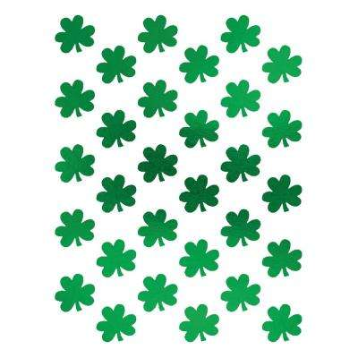 St. Patrick's Day Foil Metallic Shamrock Stickers (3-Count, 8-Pack)