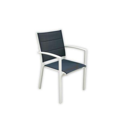 Skyline Stackable White Aluminum Outdoor Padded Dining Chair (4-Piece Set)