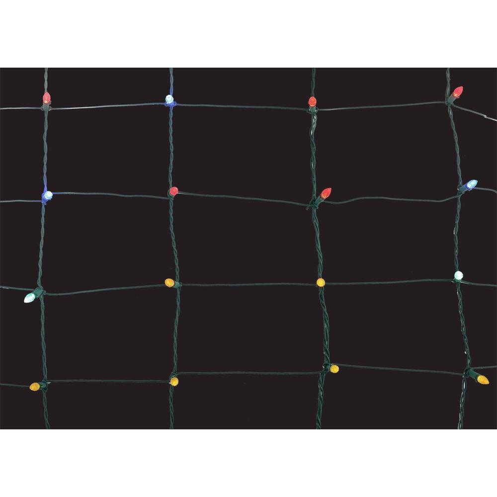 8 in. x 7.5 ft. 150-Light Multi-Color Ribbon Net Lights
