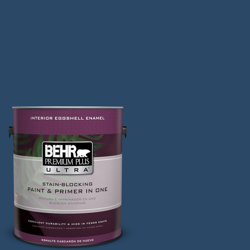 BEHR Premium Plus Ultra 1-gal. #580D-7 Deep Royal Eggshell Enamel Interior Paint