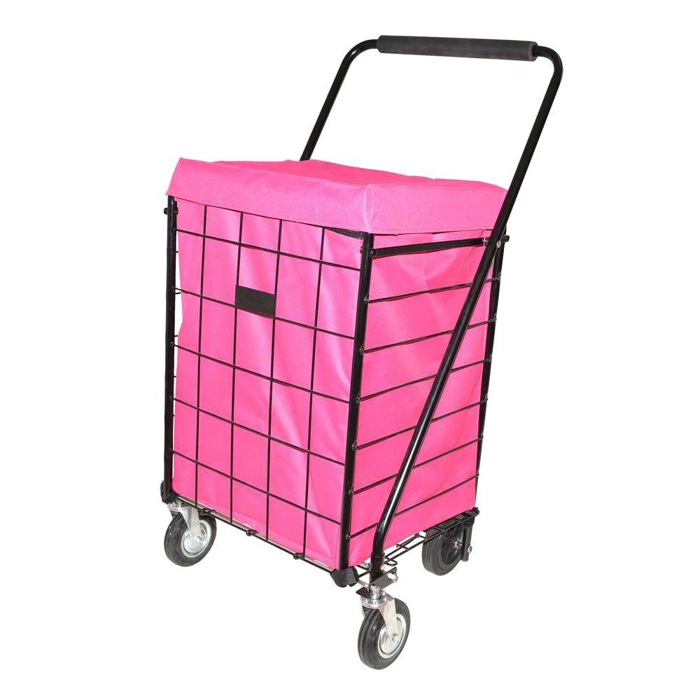 Easy Wheels Deluxe Fuchsia Jumbo Hooded Carrier Liner