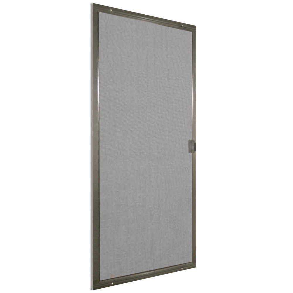 48 in. x 80 in. Bronze Patio Matic Screen Door