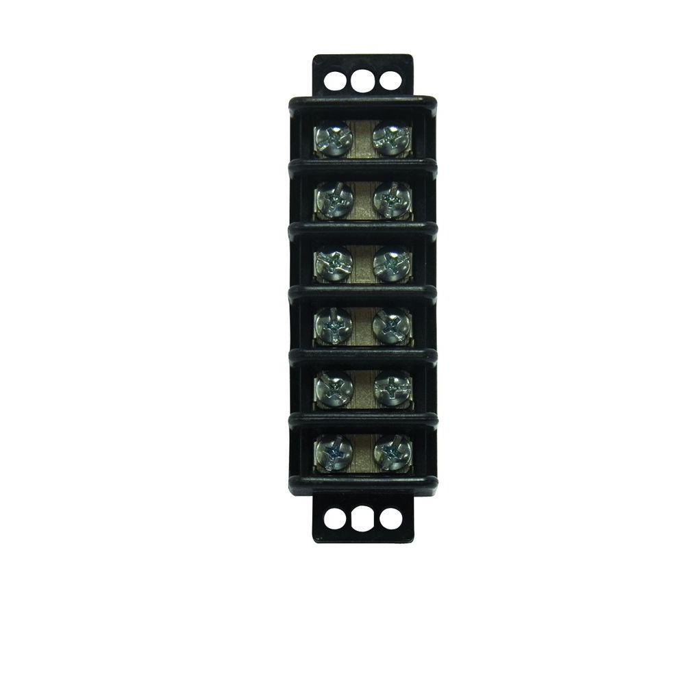 22-10 AWG 6-Circuit Terminal Block (1-Pack)