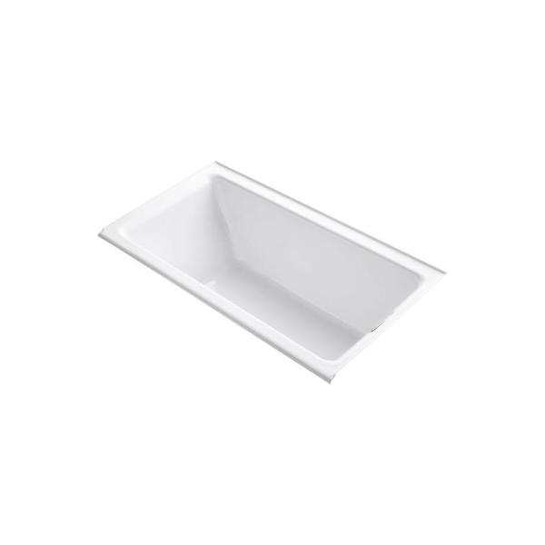 Kohler Tea For Two 5 5 Ft Right Hand Drain With Integral Flange Cast Iron Bathtub In White K 855 R 0 The Home Depot