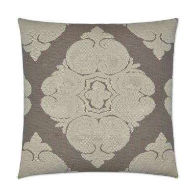 Cotillion Flax Feather Down 24 in. x 24 in. Standard Decorative Throw Pillow