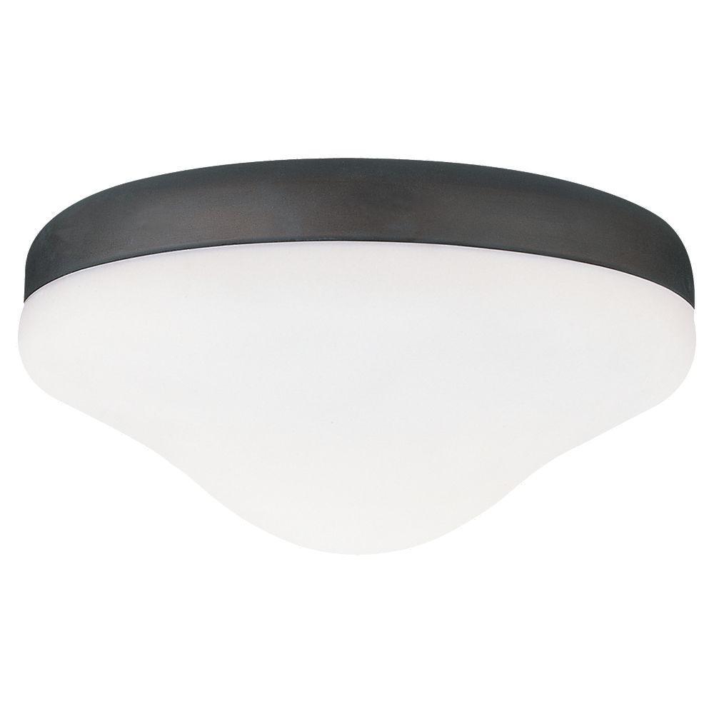 Sea Gull Lighting 2-Light Roman Bronze Powdercoat Fluorescent Ceiling Fan Light Kit