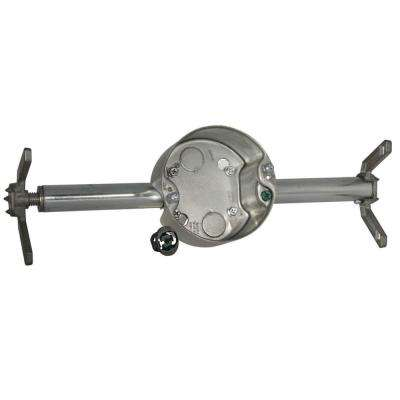 RETRO-BRACE with 4 in. Round Ceiling Rated Pan, 2-1/8 in. Deep with 1/2 in. KO's