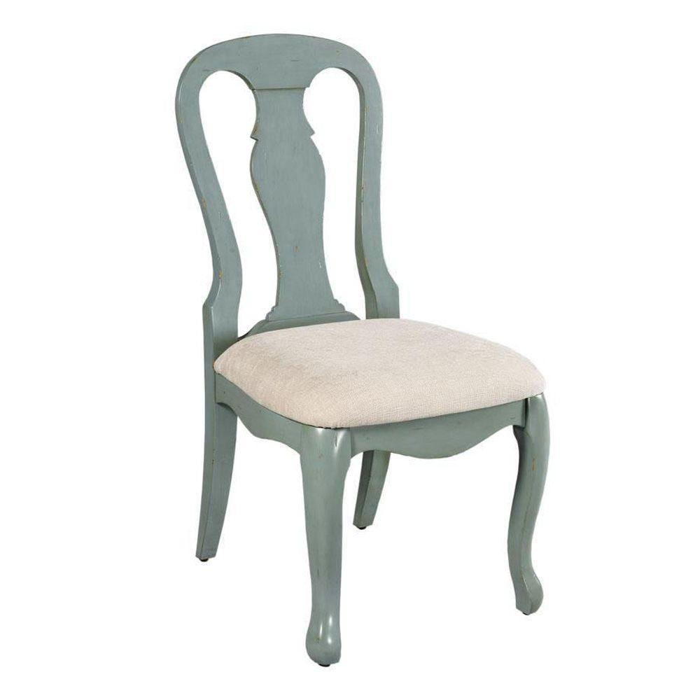 Home Decorators Collection Sheffield Side Chair in Antique Blue