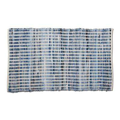 Chindi Blue Denim 2 ft. x 3 ft. Rectangular Indoor Area Rug