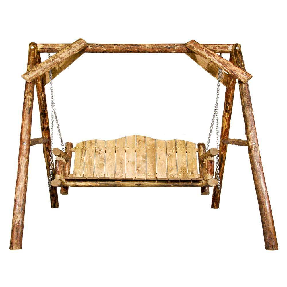 Montana Woodworks Glacier Country Exterior Finish Lawn Swing