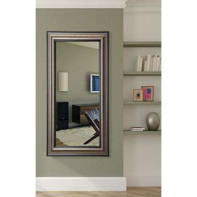 21 in. x 60 in. Antique Silver Rounded Beveled Slender Body Mirror