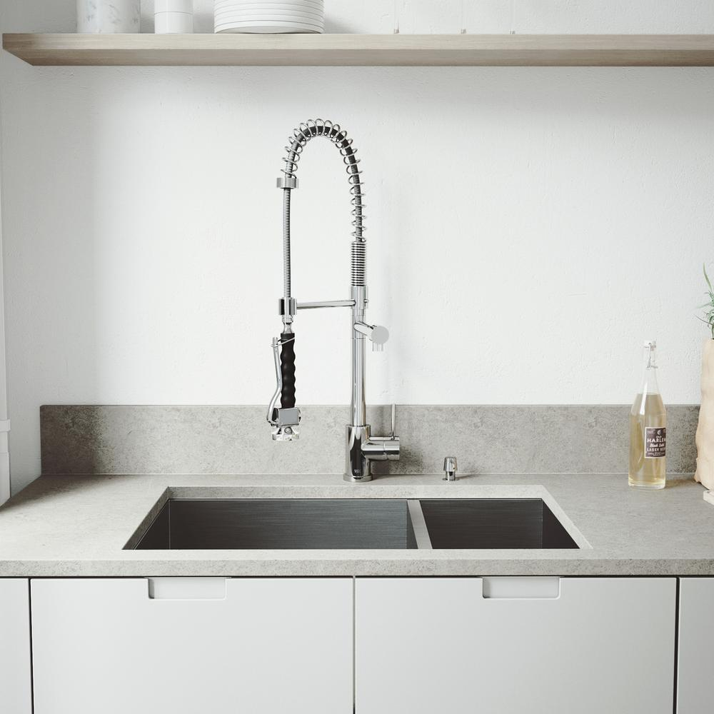 top kitchen faucet vigo all in one undermount stainless steel 29 in 15180
