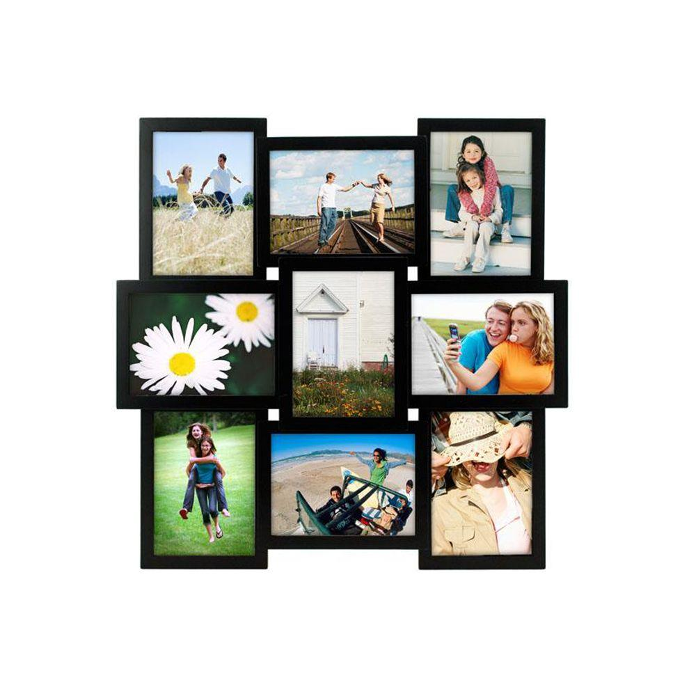 Home Decorators Collection 9-Opening Black Collage Picture Frame
