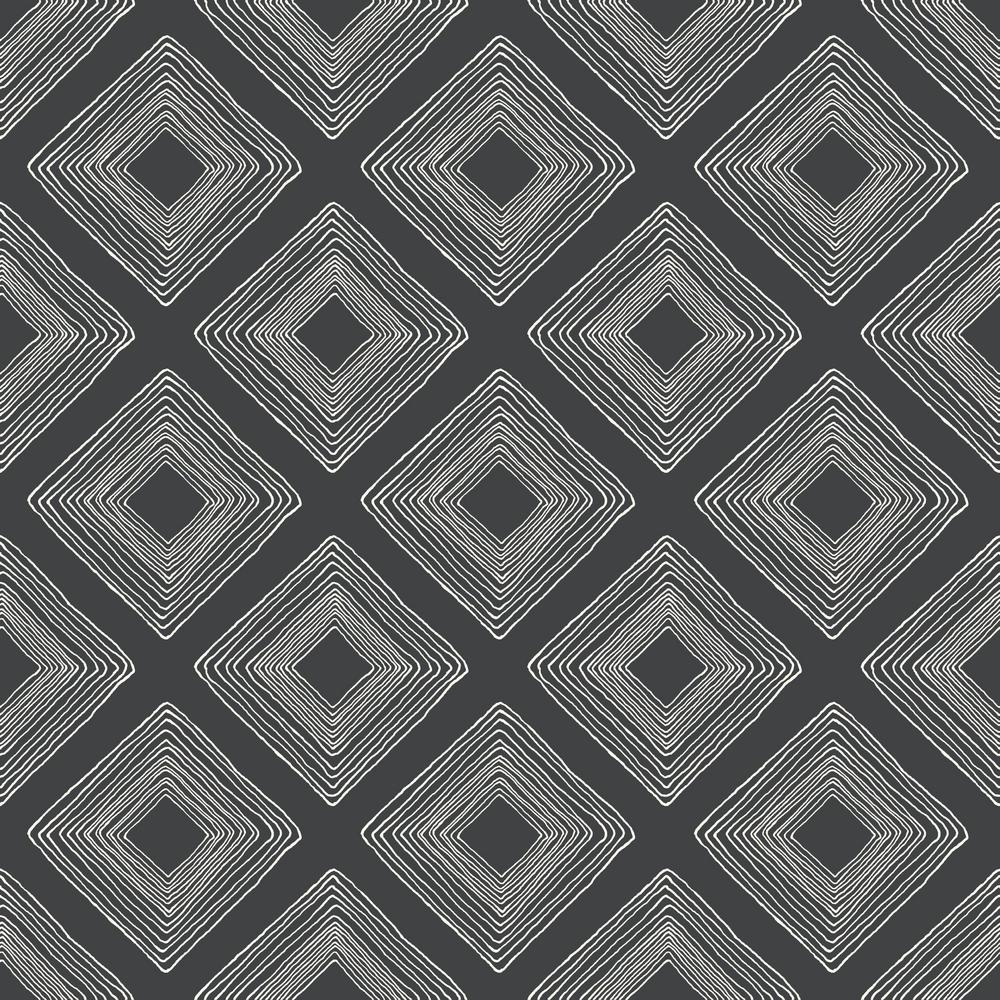 Diamond Sketch Paper Strippable Wallpaper (Covers 56 sq. ft.)
