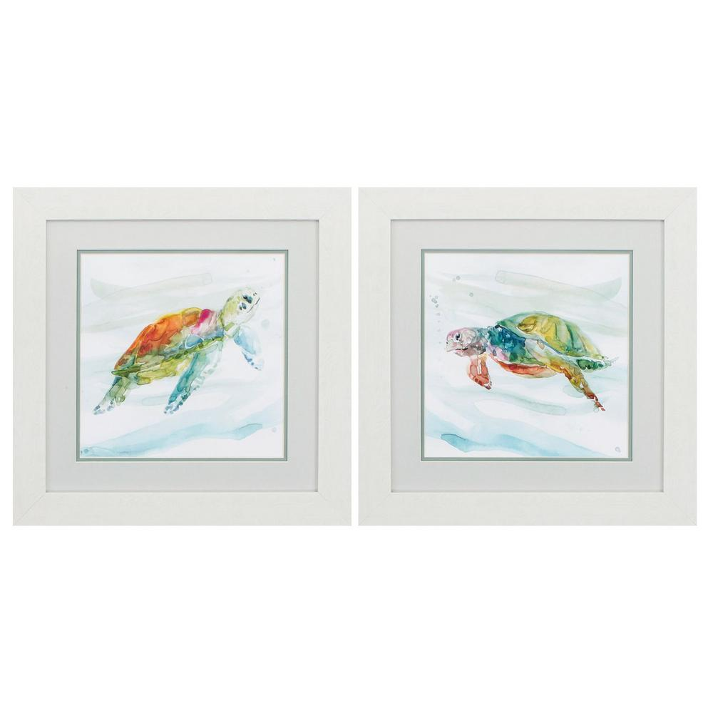 Homeroots Victoria White Gallery Frame Set Of 2 365301 The Home Depot