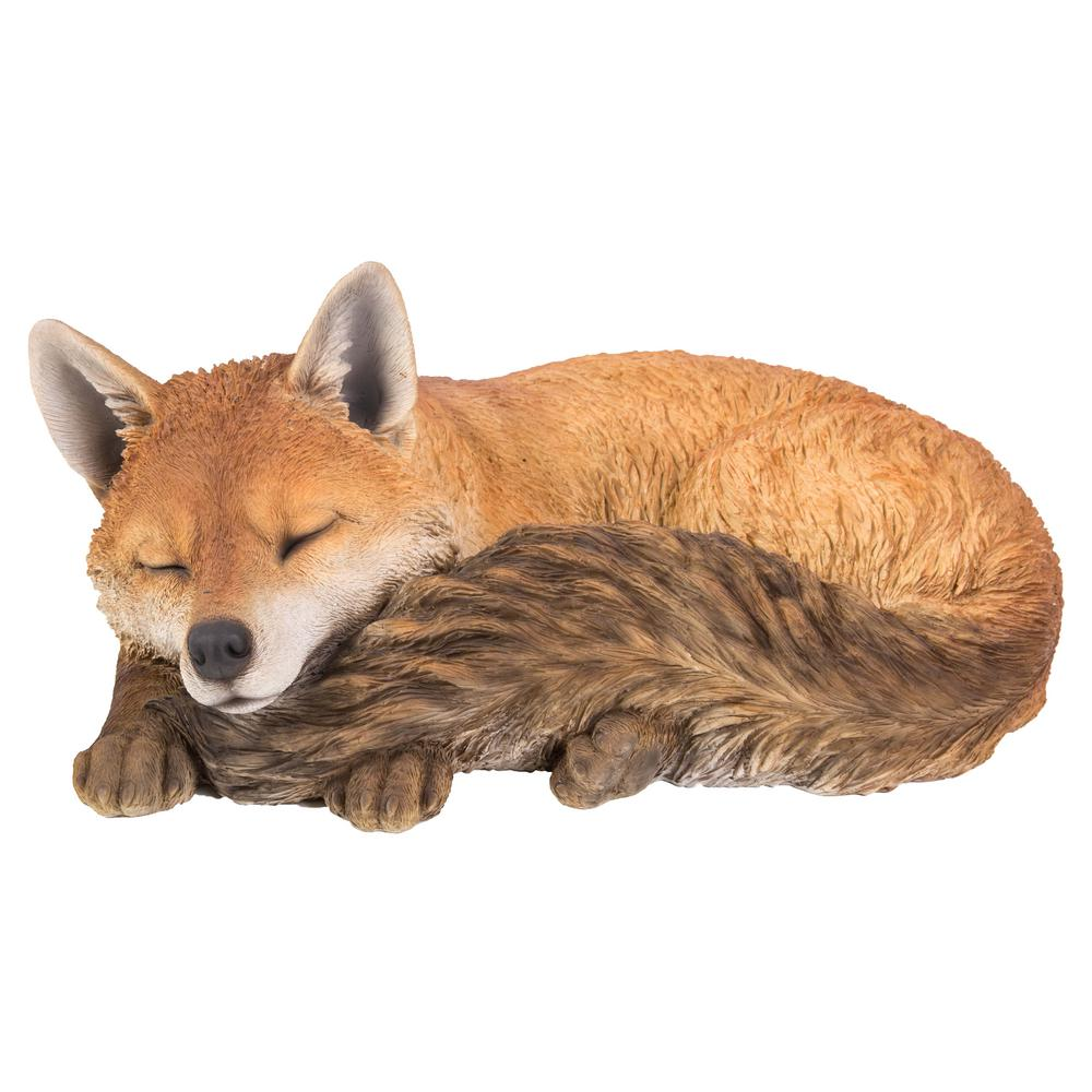 Hi Line Gift Fox Sleeping 87719 C The Home Depot