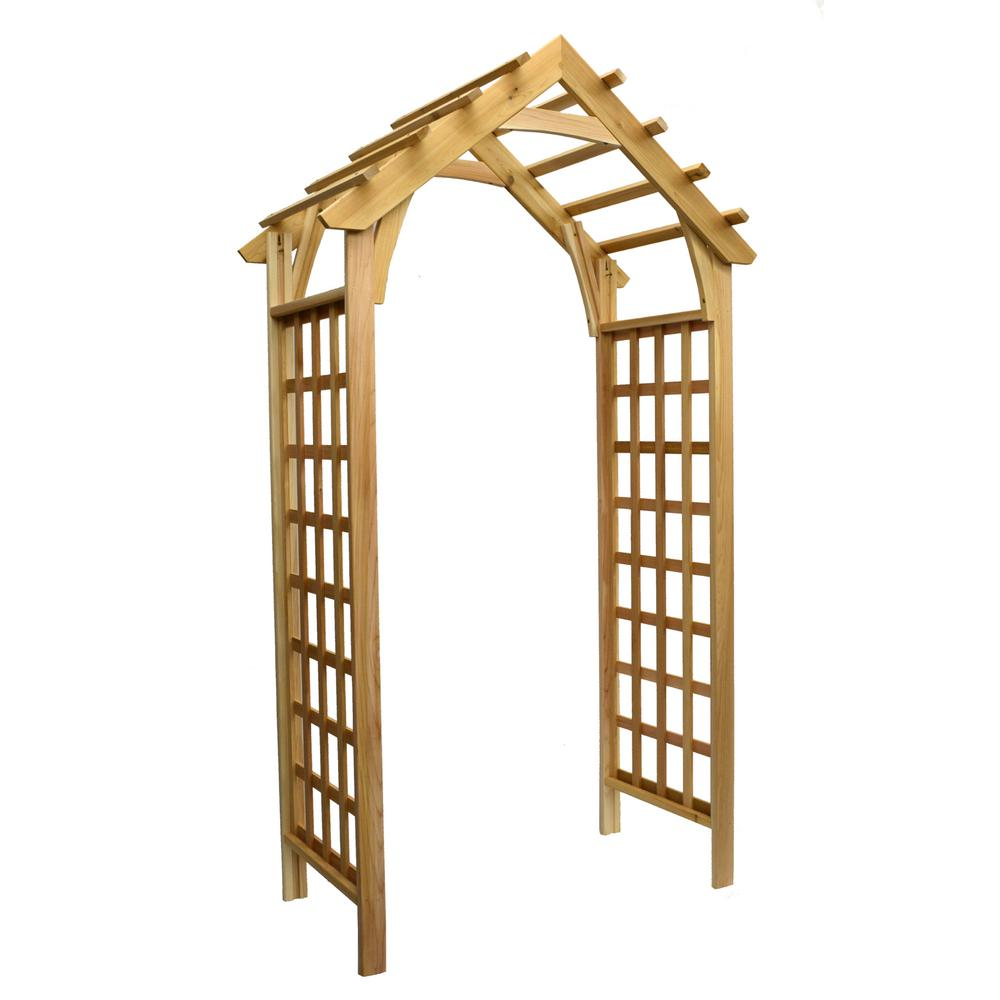 Arboria 88.75 in. x 44.5 in. Cedar Gable Arbor
