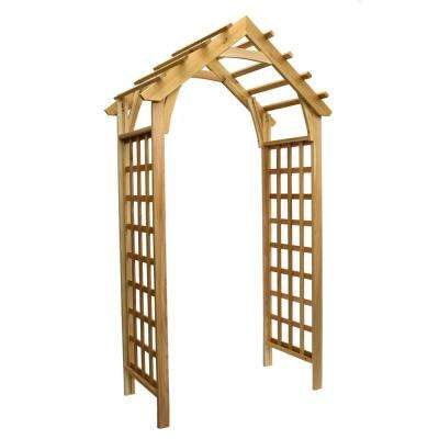 88.75 in. x 44.5 in. Cedar Gable Arbor