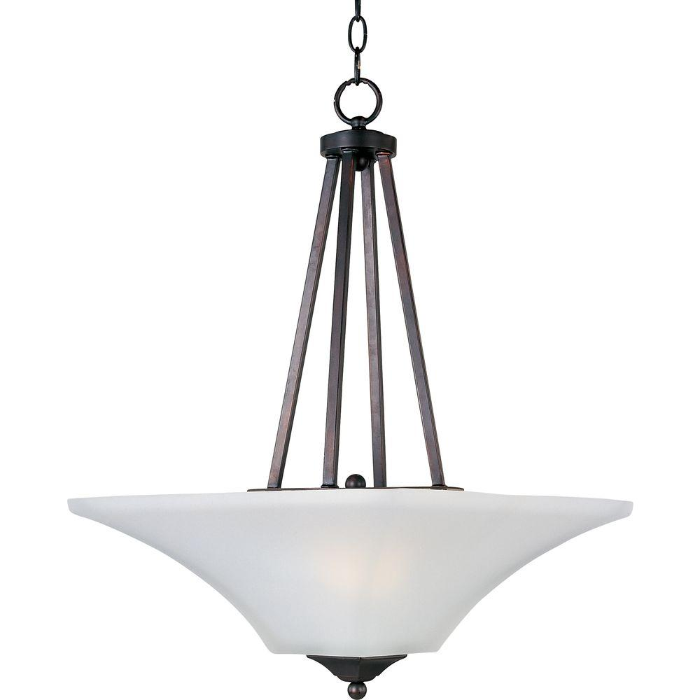 Maxim Lighting Aurora 2 Light Oil Rubbed Bronze Invert Bowl Pendant