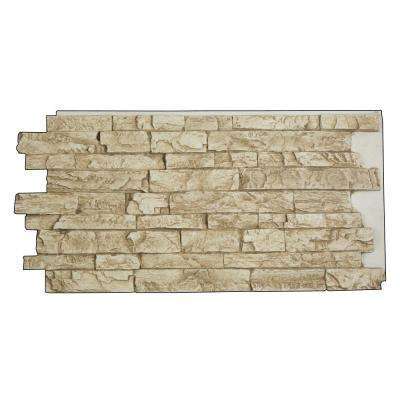 Snodonia Faux Stone Panel 1-1/4 in. x 48 in. x 24 in. Gray Rock Polyurethane Interlocking Panel