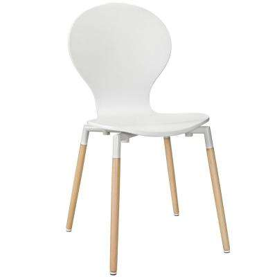 White Path Dining Wood Side Chair