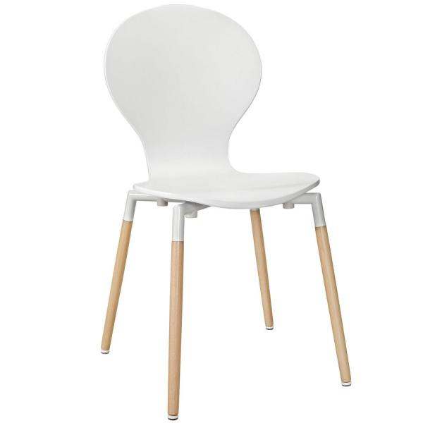 MODWAY White Path Dining Wood Side Chair EEI-1053-WHI
