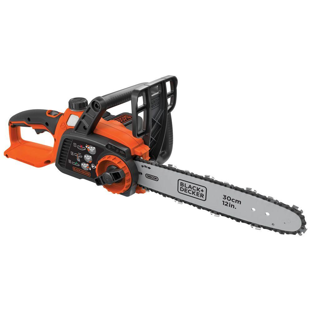 BLACK+DECKER 12 in. 40-Volt MAX Lithium-Ion Cordless Chainsaw w/ (1) 2.0 Ah Battery and Charger