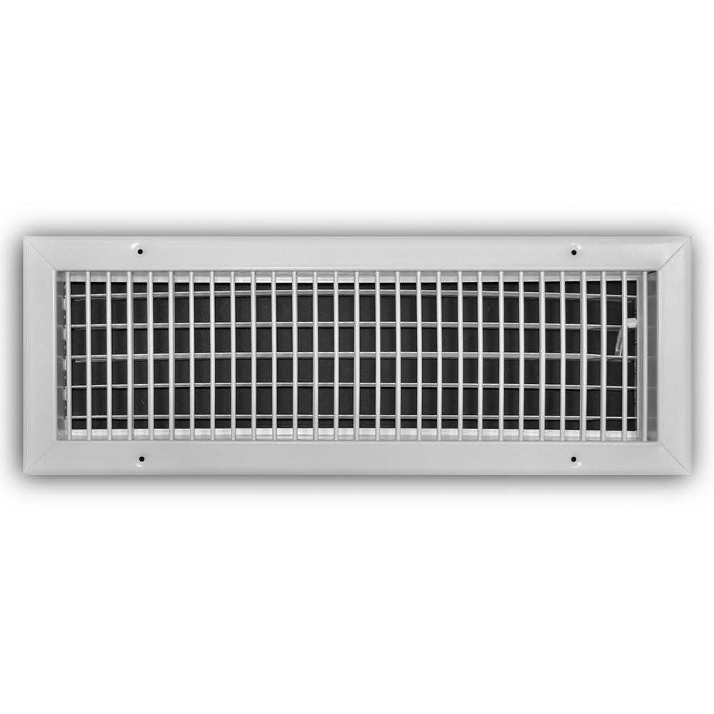 Everbilt 20 in  x 6 in  Adjustable 1-Way Wall/Ceiling Register