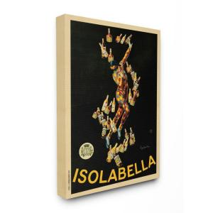 ''Isolabella Vintage Poster Drink Design'' by Marcello Dudovich Canvas Wall Art 48 in. x 36 in.