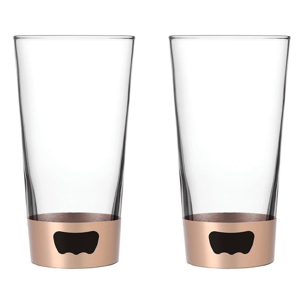16 oz. Champagne Pint Glass Opener (2-Pack)