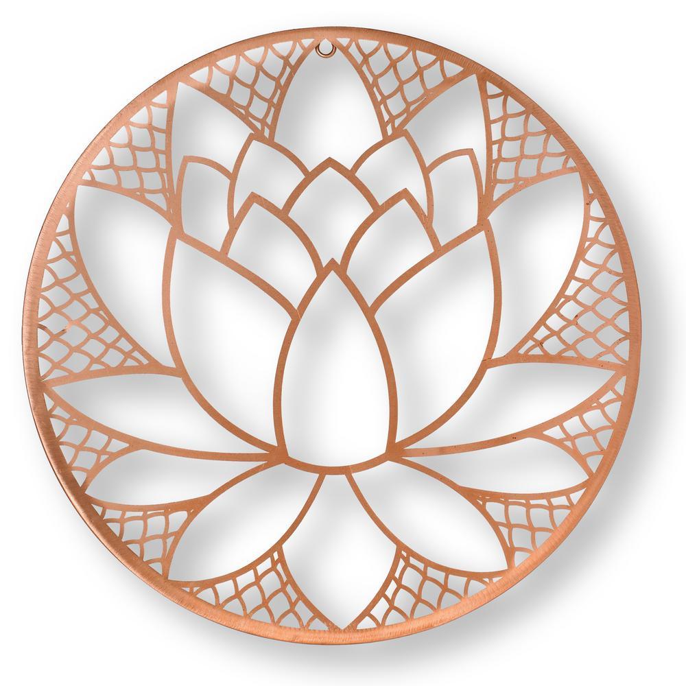Lotus Blossom Metal Wall