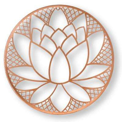 "16 in. x 16 in. ""Lotus Blossom"" Metal Wall Art"