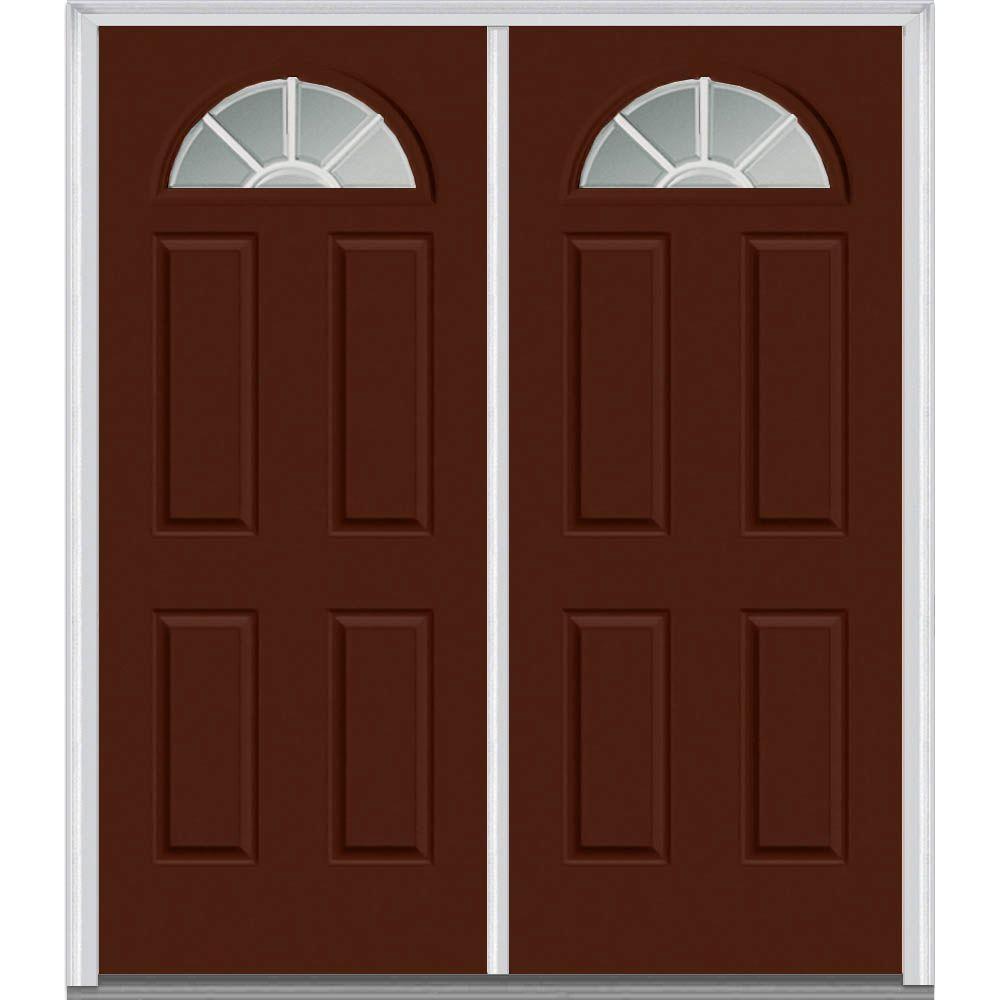Red Double Door Front Doors Exterior Doors The Home Depot