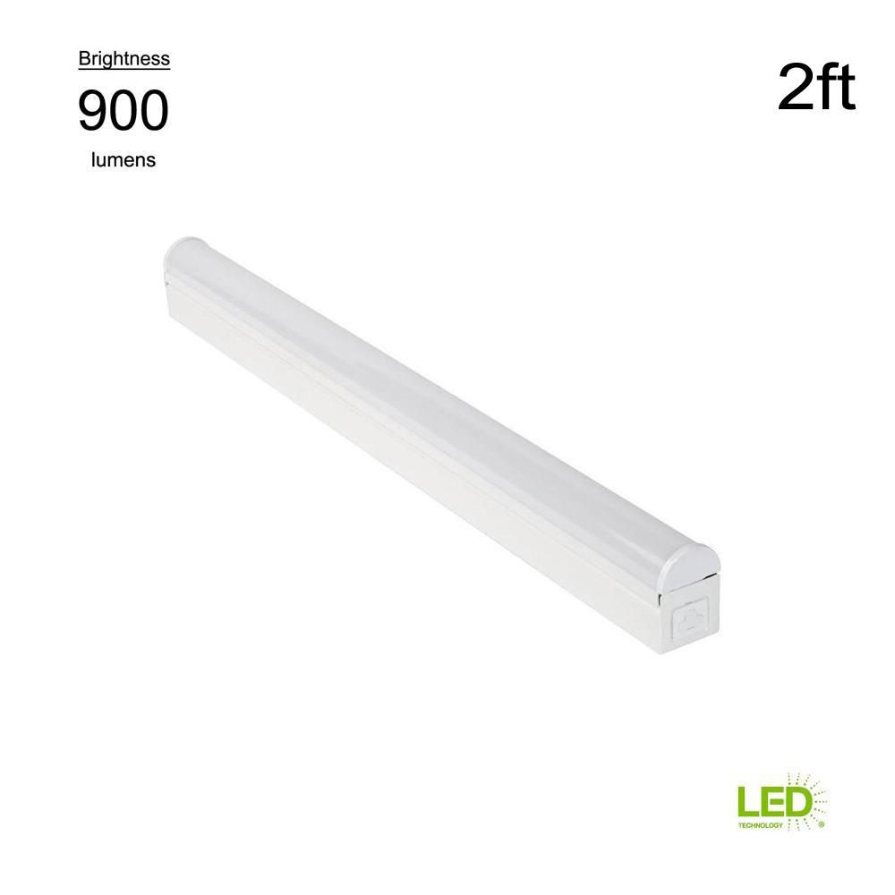 Commercial Electric Plug In Or Direct Wire Power Connection 2 Ft Fluorescent To Led Tube Light Wiring Diagram White 4000k Integrated