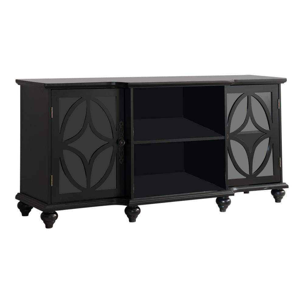 Kings Brand Furniture Classic Black TV Stand