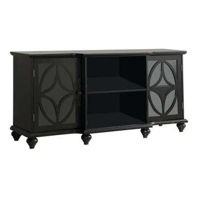 Classic Black TV Stand / Entertainment Center with Storage
