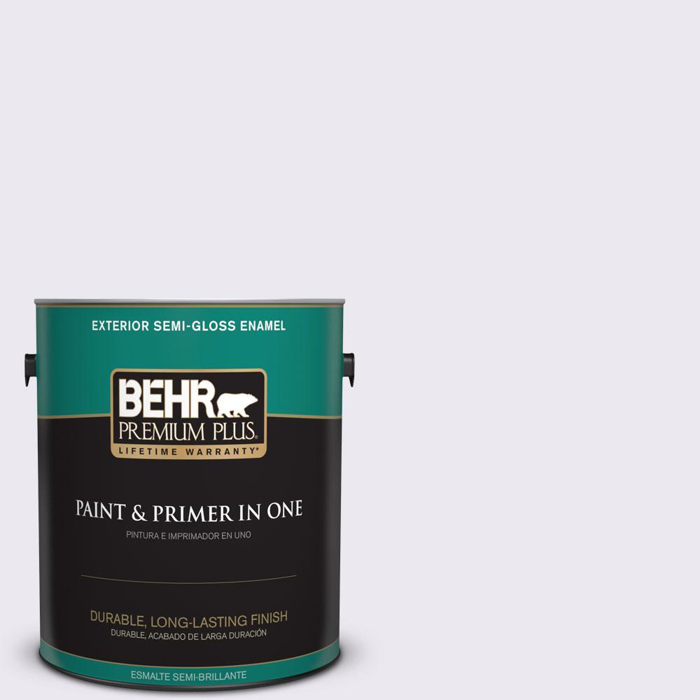 1-gal. #650E-1 Lace Cap Semi-Gloss Enamel Exterior Paint