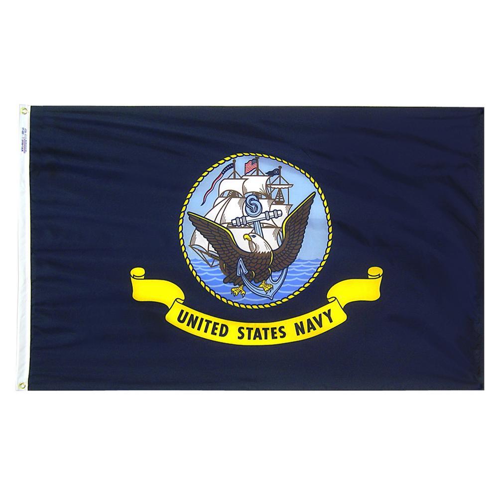 2 ft. x 3 ft. Nylon U.S. Navy Armed Forces Flag