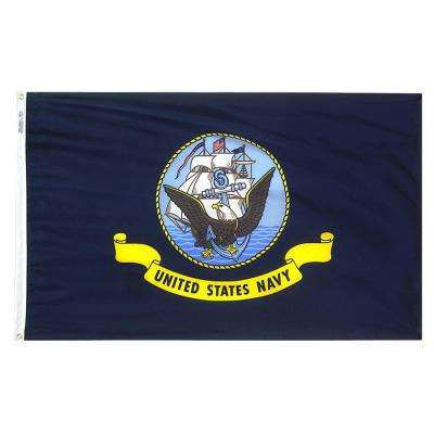 2 ft. x 3 ft. Nylon U.S. Navy Armed Forces Flag