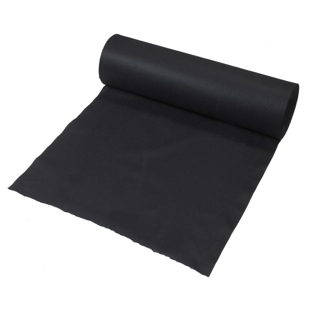 3 ft x 300 ft black polypropylene non woven filter